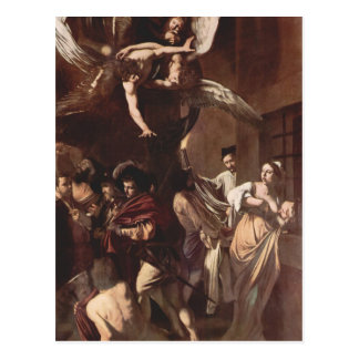 Les sept travaux de la pitié par Caravaggio Carte Postale