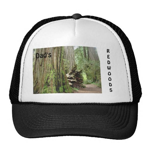 Les séquoias du papa folâtre arbres de séquoia de  casquettes de camionneur