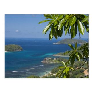Les Seychelles, île de Mahe. Côte occidentale de Carte Postale