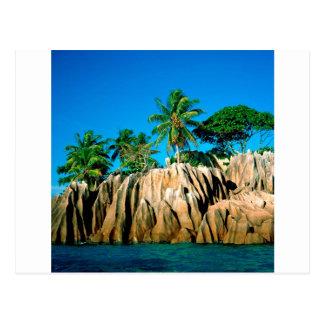 Les Seychelles trouvées par île tropicale Carte Postale
