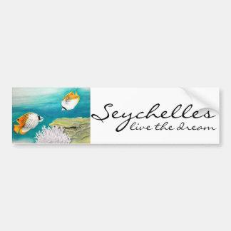 Les Seychelles vivent le scalaire rêveur Autocollant De Voiture