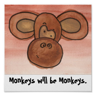 Les singes seront affiche de singes