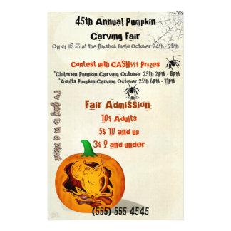 Les sirènes ont hanté le citrouille de Halloween Prospectus 14 Cm X 21,6 Cm