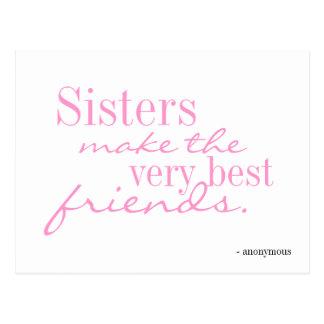 Les soeurs font les meilleurs amis - carte postale
