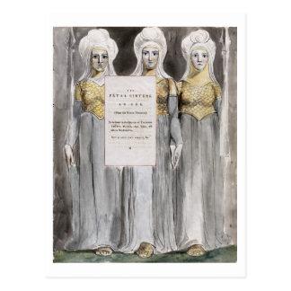 Les soeurs mortelles, conçoivent 67 'des poèmes du carte postale