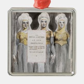 Les soeurs mortelles, conçoivent 67 'des poèmes du ornement carré argenté