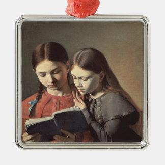 Les soeurs Signe et Henriette de l'artiste Ornement Carré Argenté