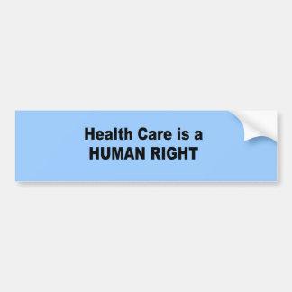 Les soins de santé sont un droit de l'homme autocollant pour voiture