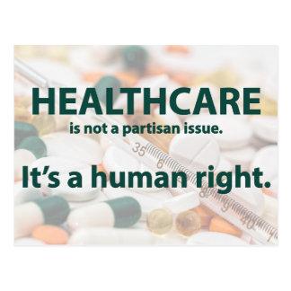 Les soins de santé sont un droit de l'homme carte postale