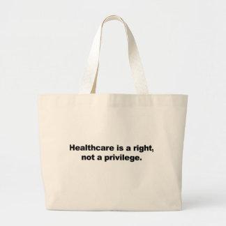Les soins de santé sont un juste, pas un privilège grand sac