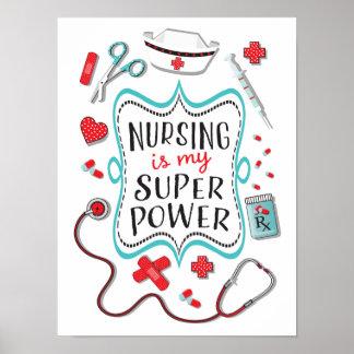 Les soins sont ma copie d'affiche de super pouvoir poster