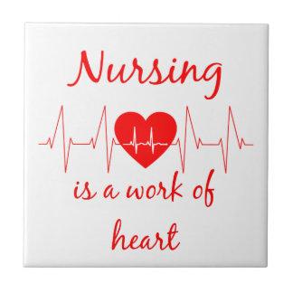 Les soins sont un travail de la citation inspirée petit carreau carré