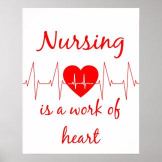 Les soins sont un travail de la citation inspirée posters