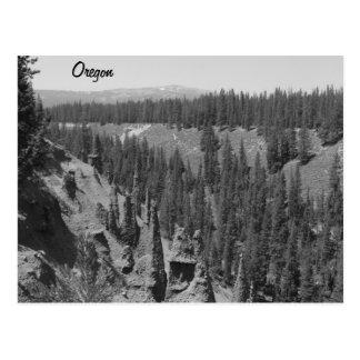 Les sommets, lac crater carte postale