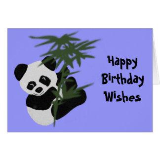 Les souhaits d'anniversaire de petit panda cartes de vœux