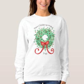 Les souhaits de Noël ajoutent l'année Sweatshirt
