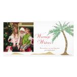 Les souhaits de vacances les plus chauds, palmier  cartes avec photo