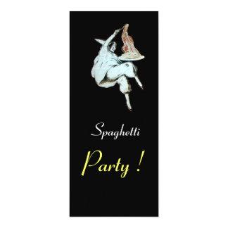 Les SPAGHETTI PARTY, dîner rouge de CUISINE Carton D'invitation 10,16 Cm X 23,49 Cm