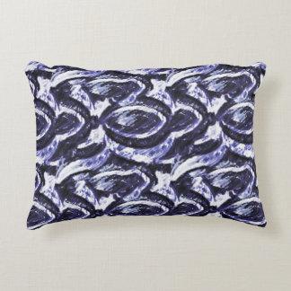 Les spirales de bleu coussins décoratifs