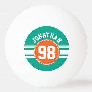Les sports Jersey barre le nombre nommé vert et Balle De Ping Pong
