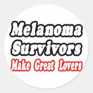 Les survivants de mélanome font de grands amants sticker rond