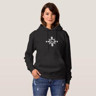 Les sweat - shirts à capuche noirs des femmes de