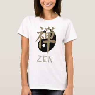 Les T-shirts des femmes de yang de yin de zen