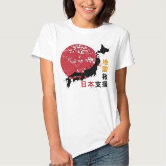 Les T-shirts des femmes du Japon de soutien