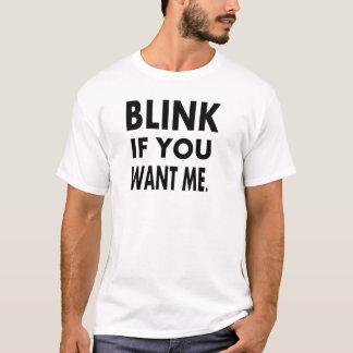 les T-shirts drôles clignotent si vous me voulez