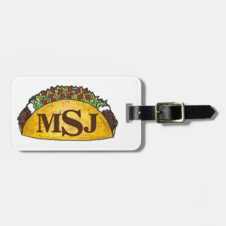 Les tacos de taco de monogramme ont personnalisé étiquette à bagage