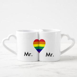 Les tasses de l'amant de mariage de gay pride