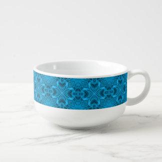 Les tasses de soupe   à kaléidoscope de bleus bol à soupe