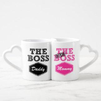 Les tasses du couple de patron