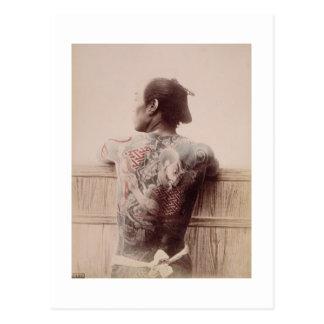 Les tatouages du jeune marié japonais, c.1880 cartes postales