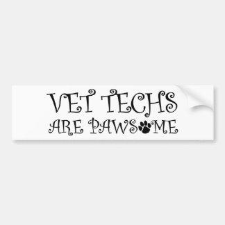 Les technologies de vétérinaire sont Pawsome Autocollant De Voiture