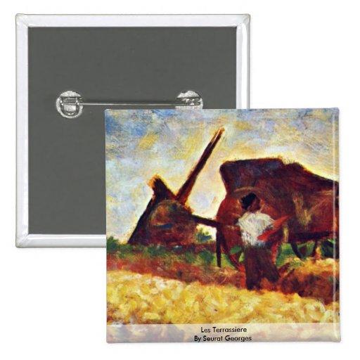 Les Terrassiere par Seurat Georges Badges Avec Agrafe