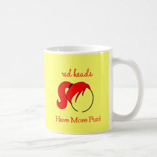 Les têtes rouges ont plus d'amusement ! mug