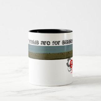 les thyroïdes sont pour des poules mouillées ! mug bicolore