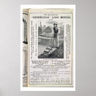 """Les tondeuses à gazon """"d'Archimède"""" célébrées, du Posters"""