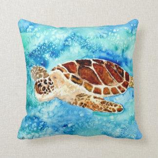 les tortues marines de bébé de vie marine de coussins carrés