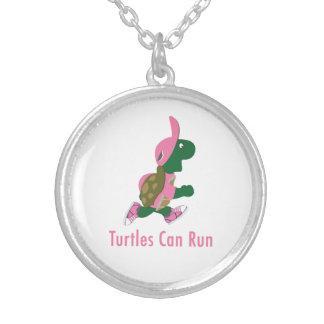 Les tortues peuvent fonctionner pendentif rond