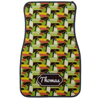 Les toucans colorés | ajoutent votre nom tapis de sol