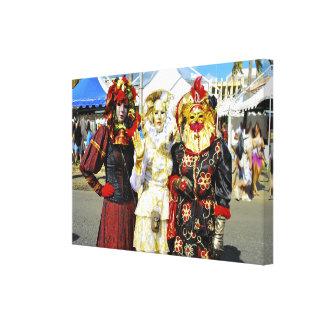 """"""" Les Touloulous """" Carnaval de Martinique Toile"""