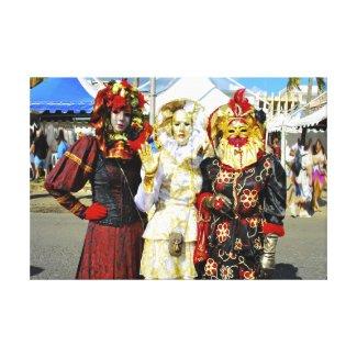 """"""" Les Touloulous """" Carnaval de Martinique Toiles"""