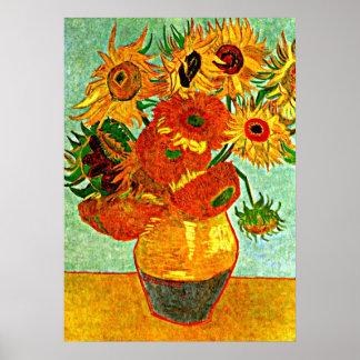 Les tournesols aimés de Van Gogh (12) Poster