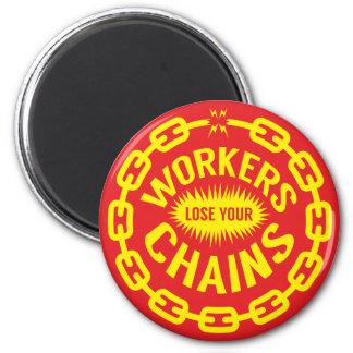 Les travailleurs perdent votre aimant de chaînes