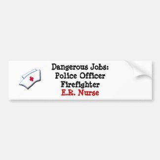 Les travaux dangereux : E.R. Infirmière Autocollant De Voiture