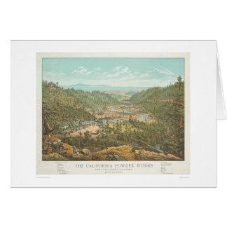 Les travaux de poudre de la Californie (1306) Carte De Vœux