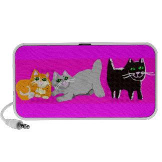 Les trois chatons brouillés haut-parleurs PC