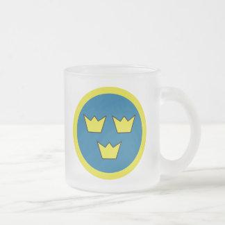 Les trois couronnes de la Suède Tasse Givré